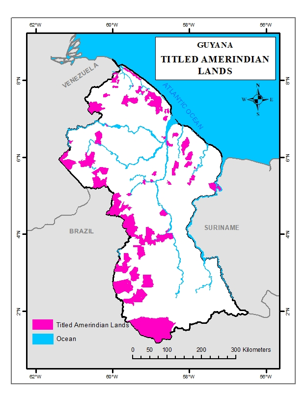 Titled Amerindian Lands Guyana